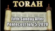 Fifth Sunday After Pentecost Worship Service June 28, 2020