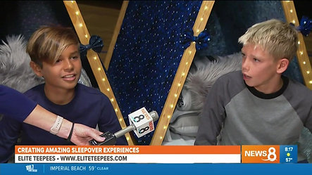 Create Amazing Sleepovers with Elite Teepees on CBS8