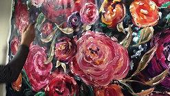 Gold Rose Backdrop