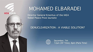 Online Discussion with Mohamed ElBaradei