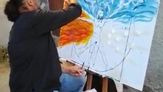 live painting a Serravezza (LU)