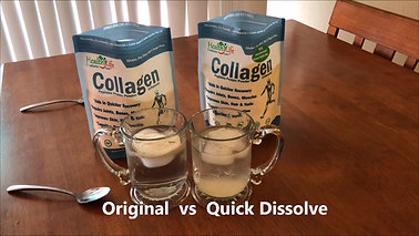 Both Bovine Collagen Powders Dissolved in Ice Water