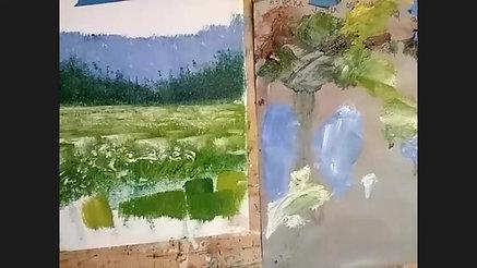 Wildflower fields in oil paint - Sunday Art Class