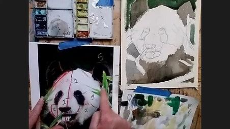 Panda in Watercolor - Friday Core Curriculum