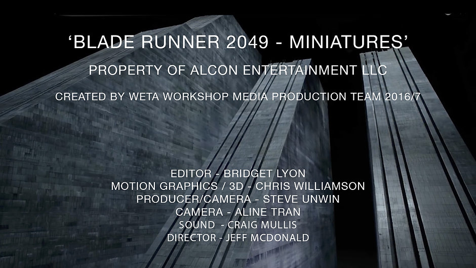 Blade Runner 2049 Miniatures - Behind The Scenes