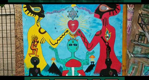 """Infinite Love"" Mural at Underhill Walls, Crown Heights, Brooklyn"