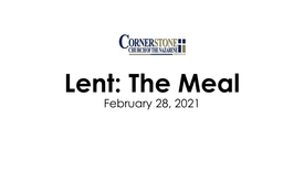 Lent: The Meal