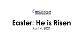 Easter: He is risen!