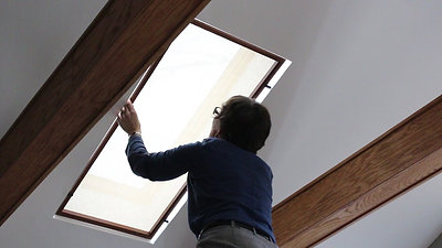 Skylight shade cover installed in minutesl