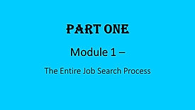 1. The Entire Job Search Process