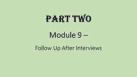 9. Follow Up After Interviews