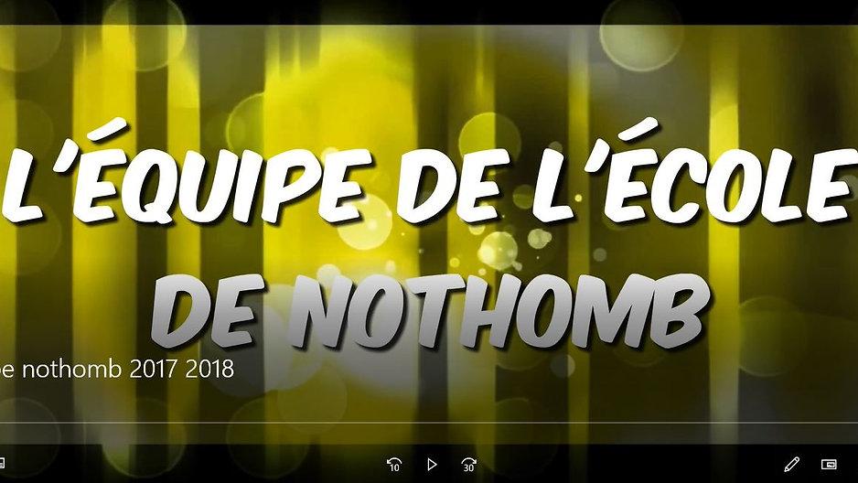 equipe nothomb 2017 2018