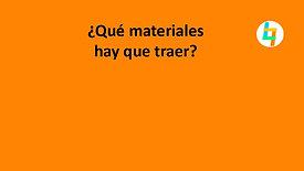 ¿Qué materiales hay que traer?