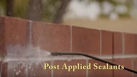 Post Applied Sealants