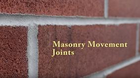 Masonry Movement Joints
