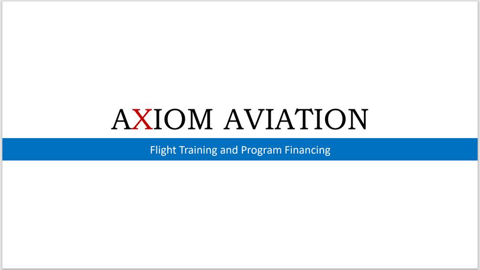Flight Training and Finance Presentation