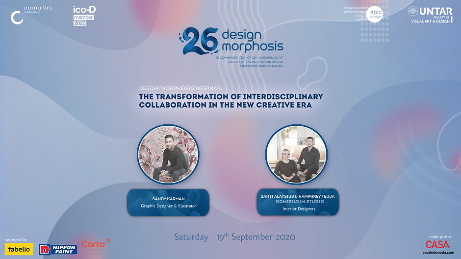 Design Morphosis Webinar: The Transformation of Interdisciplinary Collaboration in the new Creative Eera