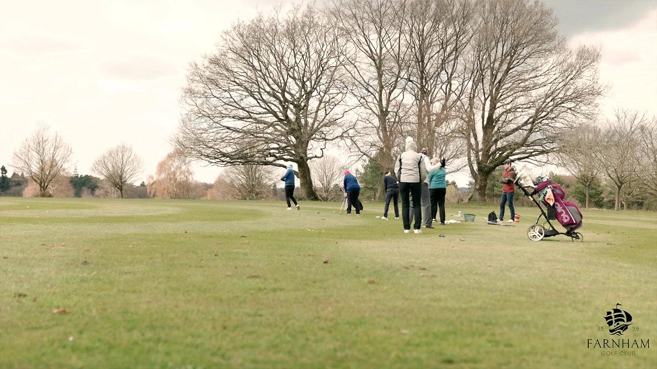 Learning golf at Farnham Golf Club