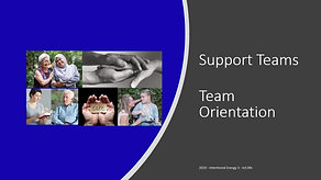 Support team - team orientation
