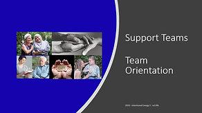 Support team - team orientation