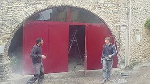 Montage portes métalliques