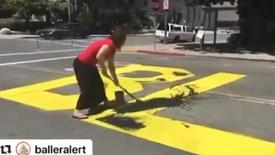 Vandalism BLM paint