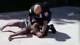 Police Brutality: Punch Black male