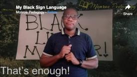 My Black Sign Language