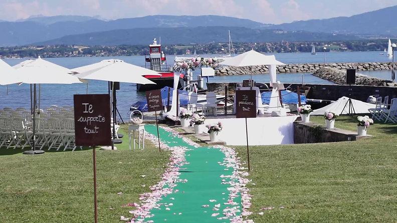 Luxury swiss lake wedding