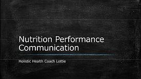 Nutrition Performance Communication