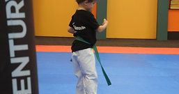 6 years old boy's Green belt form