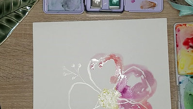 Watercolor Flower with Masking Fluid