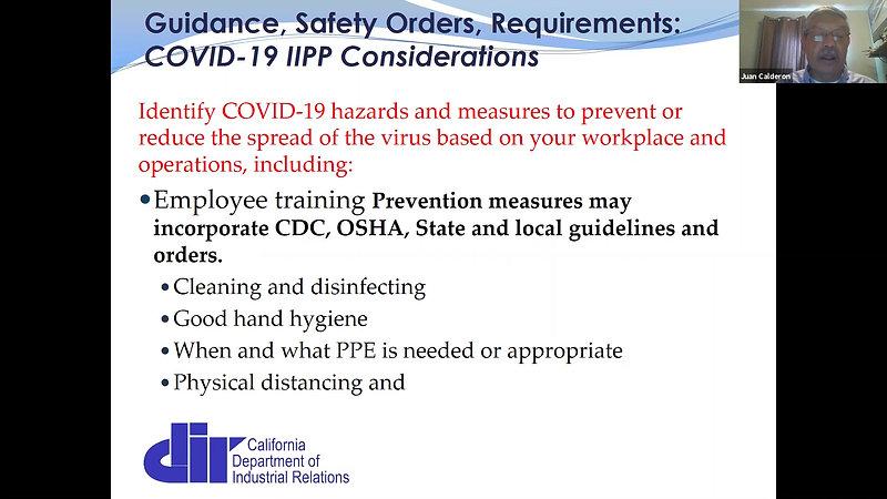Cal/OSHA Covid-19 updates