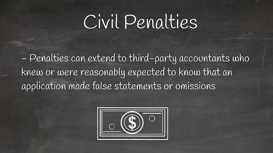 Civil & Criminal Penalties for Misuse of COVID-19 Funds