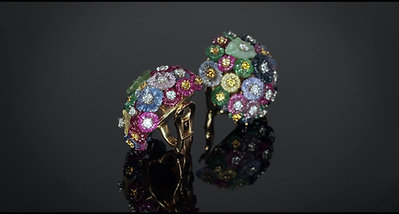 Carved Gemstones Earrings
