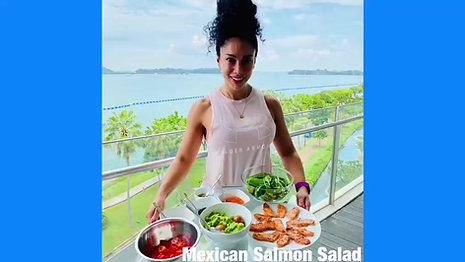 Mexican Salmon Salad: SMF Nutrition x FISK
