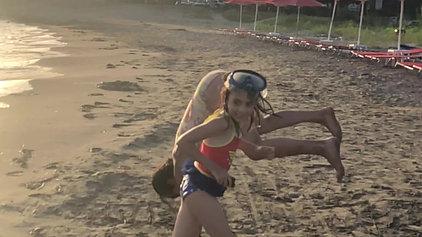 PT Laksh testing her skills on the Beach
