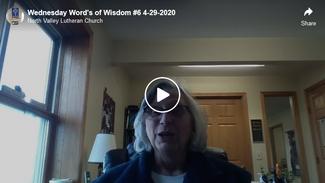 Wednesday's Words of Wisdom 4-29-2020