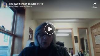 4-26-2020 Sermon on Acts 3:1-10