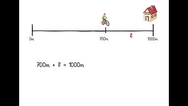 Ergänzen zu 1km