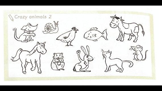 verrückte Tiere