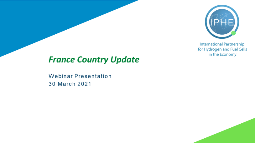 Webinar France Country Update 30 March 2021