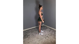 Clean/Curl Press - Resistance Band