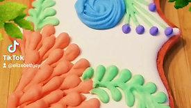 3-d Floral cookies