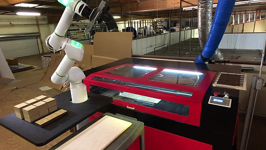 Laser Cutting Application With Cobot