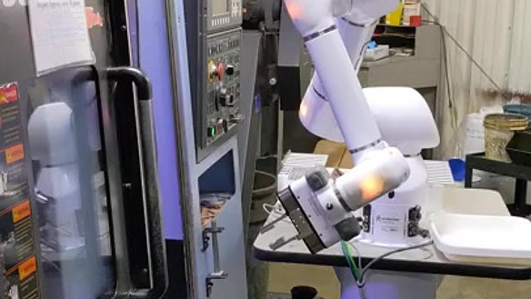 B.I.C. Precision Cobot Machine Loading 2 Doosan Lathes