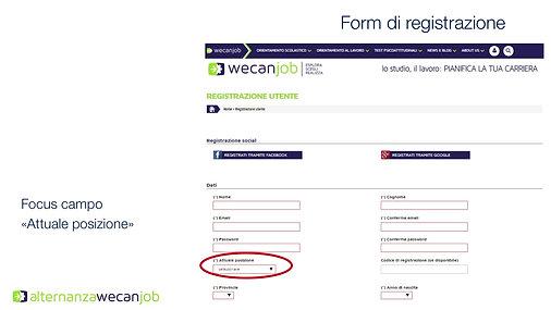 Alternanza WeCanJob Tutorial registrazione studente