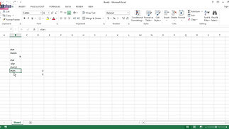 Advance Excel (Function - count)