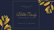 10-21-20 Wednesday Night; Pastor Wasson