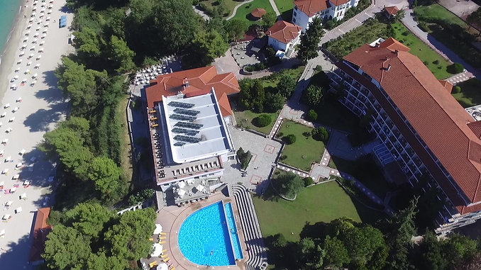 Alexander the Great Beach Hotel Aerial View